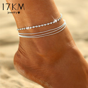 (Crystal Anklet) Foot Chain Bracelet