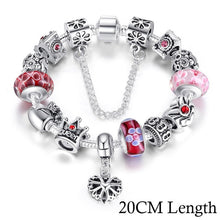 Load image into Gallery viewer, (Queen crown) Jewelry Silver Charms Bracelet & Bangles for Women