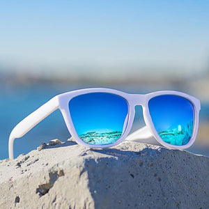 (BLUE LENS SUNGLASSES) Mirror Oculos Sun Glasses Gafas De Sol fashion Sunglasses Men and Women sunglasses