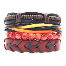 Load image into Gallery viewer, (BRACELET SET) Handmade Woven Men Leather Bracelets Women Vintage Bangle Male Homme Jewelry Accessories