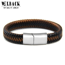 Load image into Gallery viewer, (Punk Rock Popular Magnet) Hand Made Leather Bracelet  For Men's Accessories