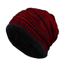 Load image into Gallery viewer, (FLEECE CAP) Baggy Winter Striped Cashmere Beanie Hat Fashion Women Knit Wool Hats Casual Unisex Skullies Beanies Warm Caps