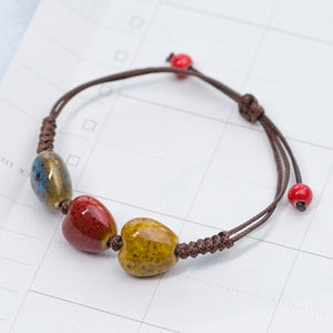 (LOVE STONE) women's ceramic bracelet Female hand-woven couple small wholesale jewelry #5347