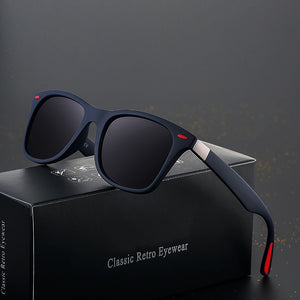 (Classic Polarized Sunglasses) Unisex Square Frame Sun Glasses UV400