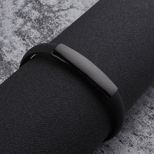 Load image into Gallery viewer, ( Silicone Rubber Bar) 220 Mm Stainless Steel Men Bracelet Bangle
