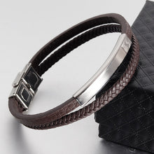 Load image into Gallery viewer, (Classic Leather Titanium Steel) Bracelet Men Bracelets & Bangles
