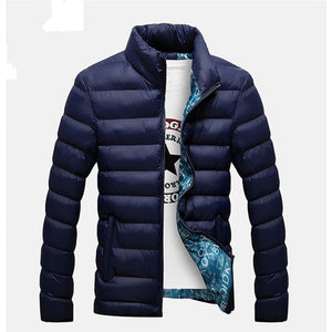 (Jackets Parka) Men Autumn Winter Warm Outwear Brand Slim Mens Coats Casual Windbreaker Quilted Jackets Men M-6XL