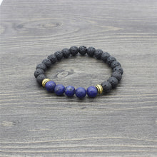 Load image into Gallery viewer, (STUNNING ROCK) Chakra Bracelet Lava Healing Balance Beads Bracelets  Reiki Buddha Prayer Natural Stone Couple Bracelet