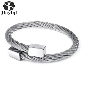 (Block) Men Stainless steel Bracelet Fashion