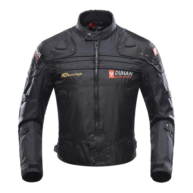 (DUHAN Motorcycle Jacket) Motorbike Riding Jacket Windproof Motorcycle Full Body Protective Gear Armor Autumn Winter Moto Clothing