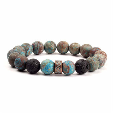 (NATURAL STONE BEADS) Bracelets Vintage Colorful Beads Bracelets Bangle Jewelry
