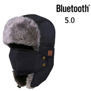 (RUSSIAN MASK) Men Women Winter Bomber Hat Thick Fleece Warm Fur Caps Balaclava Earflap Russian Mask Hats Unisex Snow Ski Caps