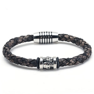(TRENDY LEATHER) bracelets & bangles retro bracelet pulseras jewelry