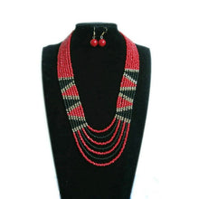 Load image into Gallery viewer, (CHOKER NECKLACES) Geometric Triangle Color Resin Beaded Necklace Jewelry