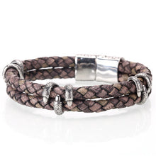 Load image into Gallery viewer, (LEATHER HOMME)  bracelets  handmade jewelry pulseras