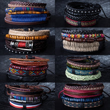 Load image into Gallery viewer, (BRACELET SET) Bangles Ethnic braided Rope Wrap Bracelets for Women Men Gifts