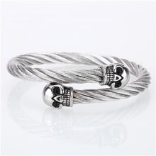 Load image into Gallery viewer, (SKULL STAINLESS STEEL) metal/open/skull bracelets & bangles