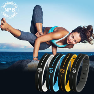 (Balance Sports Germanium) Tourmaline Power Hologram Silicone Therapy Waterproof Bracelet
