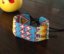 Load image into Gallery viewer, ( Nepal Colorful Seeds)3CM Width Handmade Hemp Rope Woven