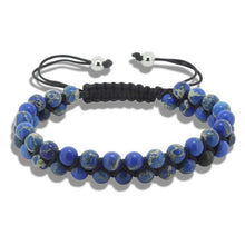 Load image into Gallery viewer, (DOBLE ROWS DIFF COLORS) 6mm Natural Stone Bracelets & Bangles for Unisex