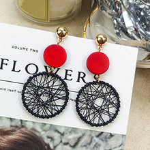 Load image into Gallery viewer, (ARTESANOS EARRINGS) Women Fashion Korean Style Hollow Mesh Drop Earrings Statement Jewelry 1E283