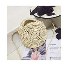 Load image into Gallery viewer, (Bali Woven Bag) Round Bag buckle Rattan  Straw Bags Satchel Wind Bohemia Beach Circle Bag