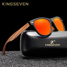 Load image into Gallery viewer, (Wooden Polarized Square Sunglasses) Men Women Mirror Lens UV400 Protection Driving Sun Glasses Eyewear
