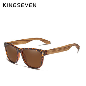 (Wooden Polarized Square Sunglasses) Men Women Mirror Lens UV400 Protection Driving Sun Glasses Eyewear