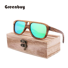 Load image into Gallery viewer, (SPOT CROSS SUNGLASSES) hot selling natural environmental bamboo Sunglasses retro men's and women's sunglasses can be engravedLOGO