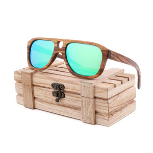(SPOT CROSS SUNGLASSES) hot selling natural environmental bamboo Sunglasses retro men's and women's sunglasses can be engravedLOGO
