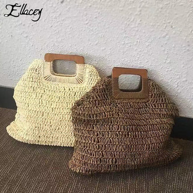 (Totes Bag) Large Capacity Handbags Handmade Straw Bag