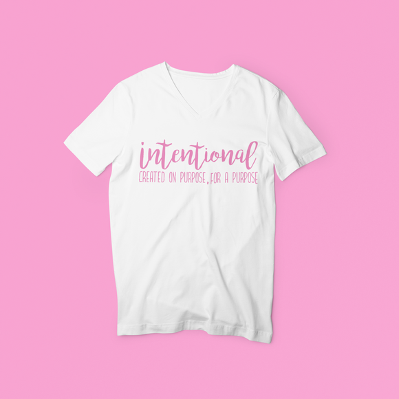 Let everyone know how intentional you are when you wear this tee