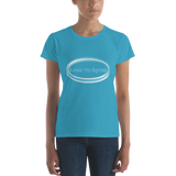 Women's short sleeve Aspire to Inspire T (Grey)