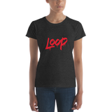 Women's Loop Drip T-shirt (Red)