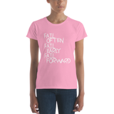 Women's short sleeve fail forward T