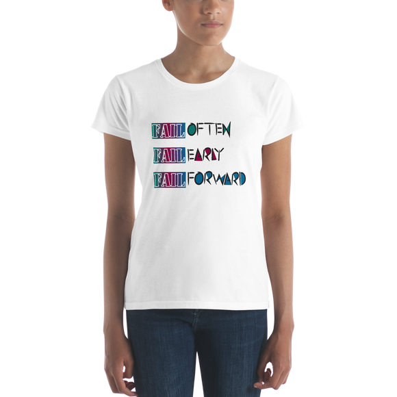 Women's short sleeve Fail Forward T (Multi)