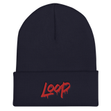 Loop Drip Cuffed Beanie (Red)