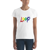 Women's Loop Drip T-Shirt (Multi-Color)