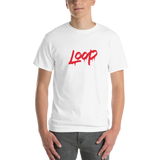 Loop Drip T-Shirt (Red/Unisex)