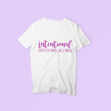 Women's Intentional T-shirt (Unisex) ) Purple