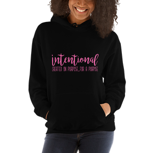 Intentional Hoodie (Pink Letters)