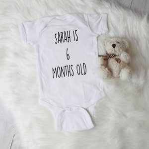 Personalized Girls Milestone Bodysuit Set
