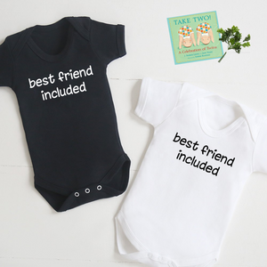 """Best Friend Included"" Bodysuit Twin Set"