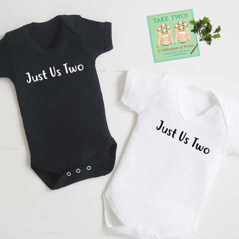 """Just Us Two"" Bodysuit Twin Set"