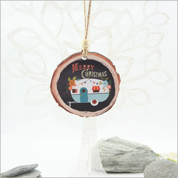 Merry Christmas Camper Hanging Ornament Small