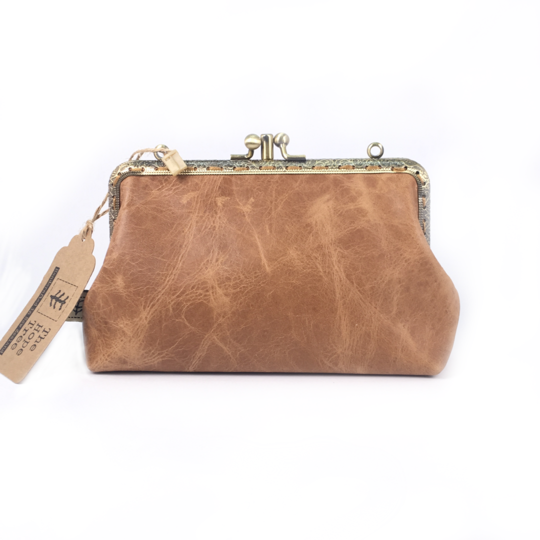 Short Double Purse : 12 cm Leather