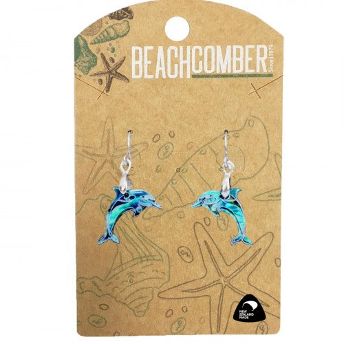 Paua Earrings Small Dolphin