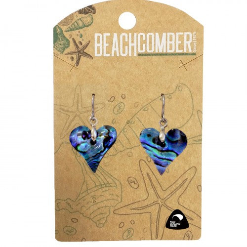 Paua Earrings Small Heart