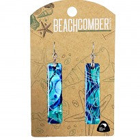 Paua Earrings Bar Blue BCJ1575E