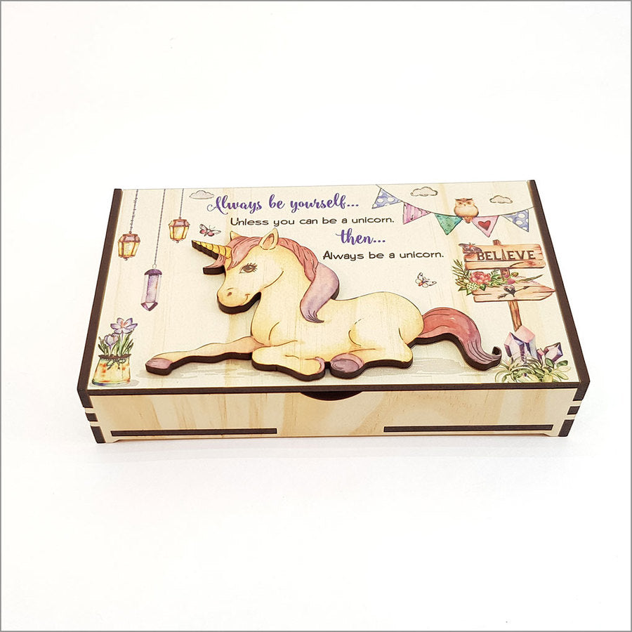 Large Trinket Box: Unicorn